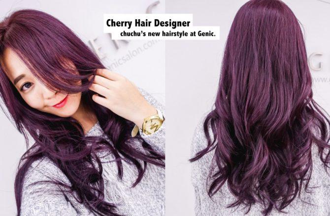 拍照更好看的秘訣技巧!我的粉嫩紫櫻桃紫藍莓紫新髮色–Genic Salon