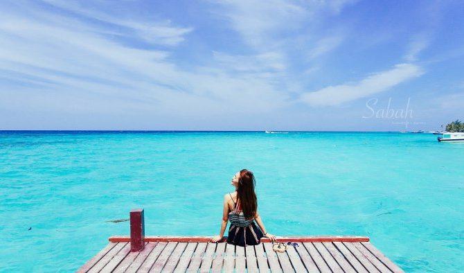 沙巴亞庇美人魚島浮潛。我以為來到馬爾地夫!