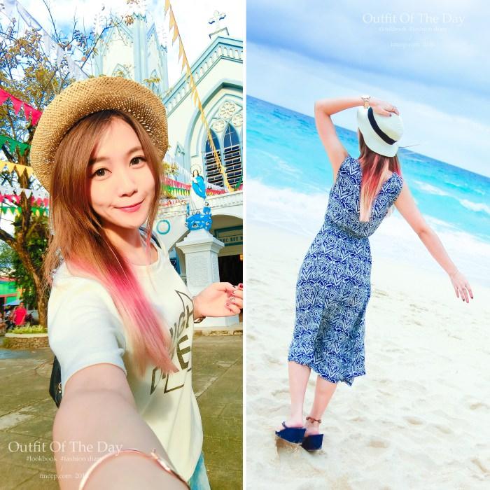 海島穿搭,度假穿搭,比基尼,bikini,長洋裝,草帽,墨鏡,牛仔褲,罩衫,夾腳拖鞋,涼鞋,洋裝,花花,連身褲,